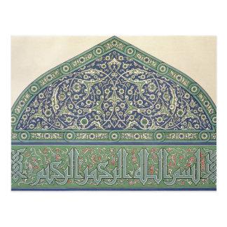 Cartão Postal Telhe a decoração, catedral da mesquita de Qous,