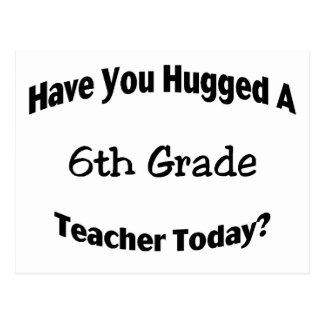 Cartão Postal Tem você abraçado um 6o professor da categoria