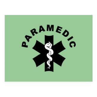 Cartão Postal Tema do paramédico