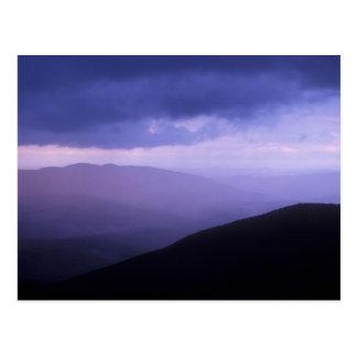 Cartão Postal Tempestade Berkshires da noite de Greylock da