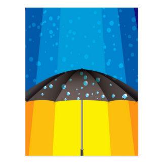 Cartão Postal Tempestade da chuva em um dia ensolarado