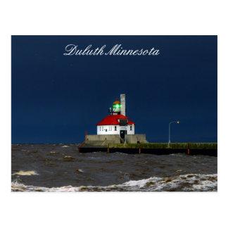 Cartão Postal Tempestade do farol