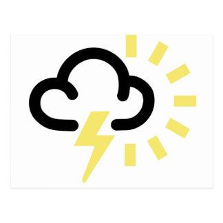 Cartão Postal Tempestade do trovão: Símbolo retro da previsão de