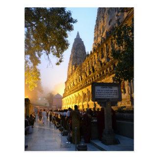 Cartão Postal Templo budista Bodh Gaya India de Mahabodhi