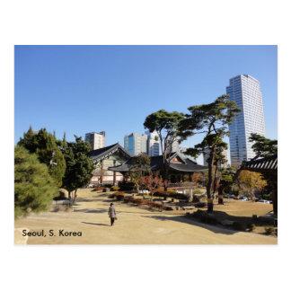 Cartão Postal Templo budista em Seoul, Coreia do Sul