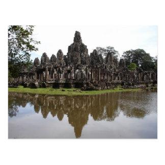 Cartão Postal Templo de Bayon em Angkok Wat em Cambodia