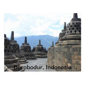 Cartão Postal Templo de Borobodur Budhist, Indonésia
