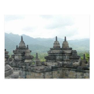 Cartão Postal Templo de Borobudur, Yogjakarta