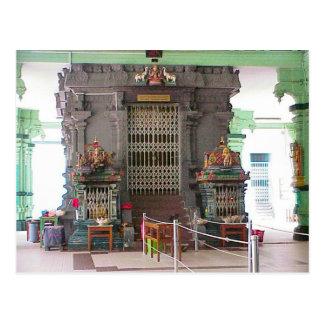 Cartão Postal Templo de Chettiar, interior