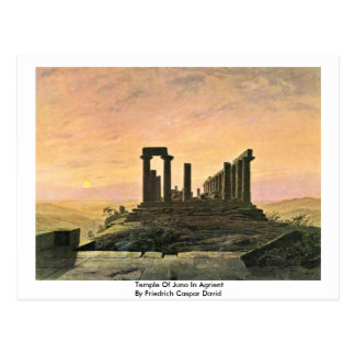 Cartão Postal Templo de Juno em Agrient