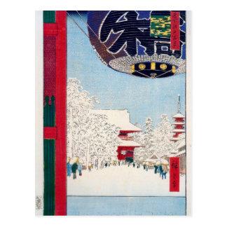 Cartão Postal Templo de Kinryuzan em Asakusa por Hiroshige