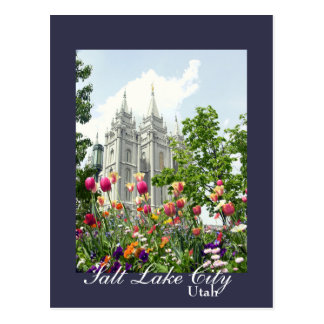 Cartão Postal Templo de Mormon de Salt Lake City, Utá