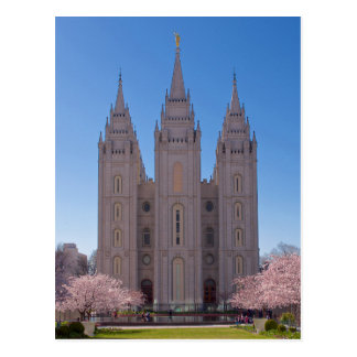 Cartão Postal Templo de Salt Lake City na mola