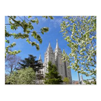 Cartão Postal Templo de Salt Lake City na mola
