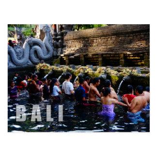 Cartão Postal Templo de Tirta Empul em Bali, Indonésia