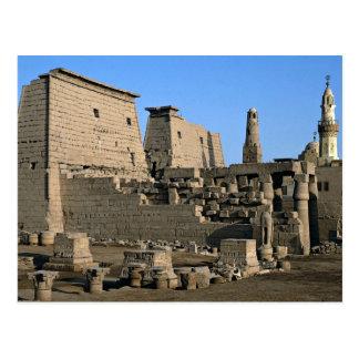 Cartão Postal Templo deserto de Luxor, Luxor, Egipto