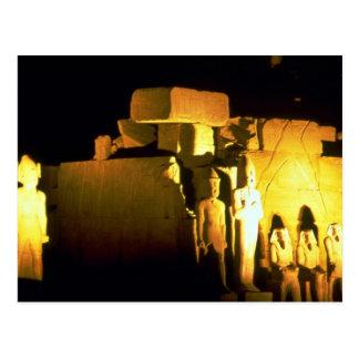 Cartão Postal Templo do Amon, templo de Karnak, deserto de
