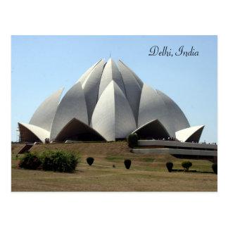Cartão Postal templo dos lótus do bahai