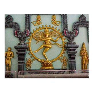 Cartão Postal Templo Hindu de Chettiar, estátua de Shiva