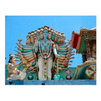 Cartão Postal Templo Hindu, estátua do goddesse