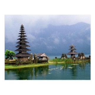 Cartão Postal templo Indonésia de bali