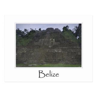 Cartão Postal Templo maia de Belize em América Central
