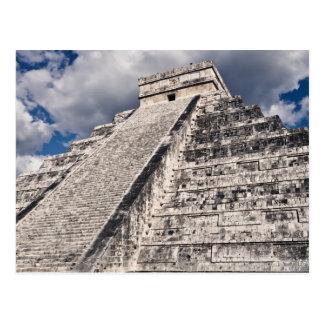 Cartão Postal Templo maia de Chichen Itza em México