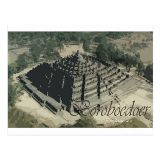 Cartão Postal Templo Screnary de Borobudur