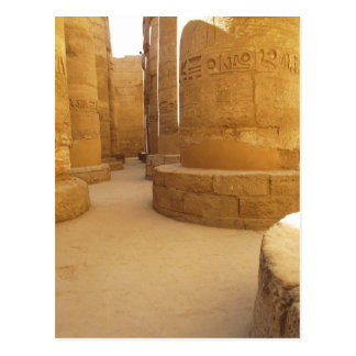 Cartão Postal Templos de Karnak; Templo do Amon-Ra, jeroglífico
