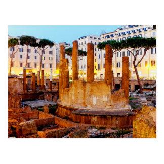 Cartão Postal Templos romanos