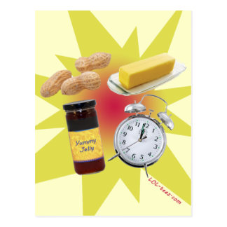 Cartão Postal Tempo da geléia da manteiga de amendoim!