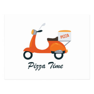Cartão Postal Tempo da pizza