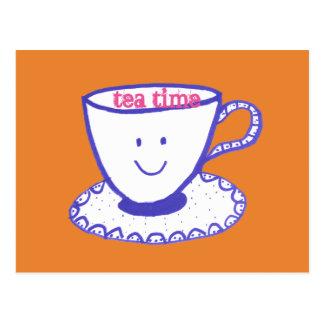 Cartão Postal Tempo do chá