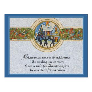 Cartão Postal Tempo do natal vintage