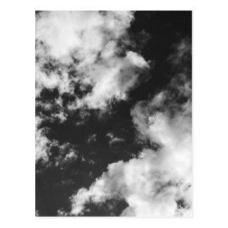 Cartão Postal Tempo nebuloso preto e branco