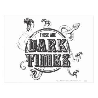 Cartão Postal Tempos da obscuridade do período | de Harry Potter