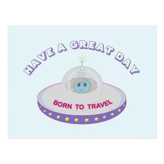 Cartão Postal Tenha cumprimentos de um UFO do dia do excelente