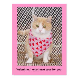 Cartão Postal Tenha somente os olhos para você