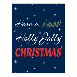 Cartão Postal Tenha um Natal alegre do azevinho