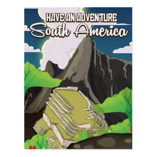 Cartão Postal Tenha um poster de Ámérica do Sul da aventura