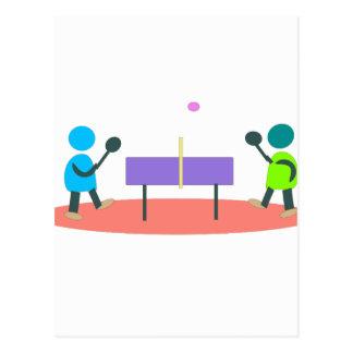 Cartão Postal ténis de mesa
