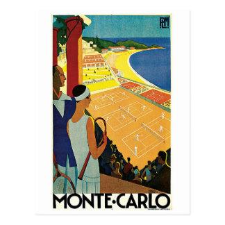 Cartão Postal Tênis em Monte - Carlo