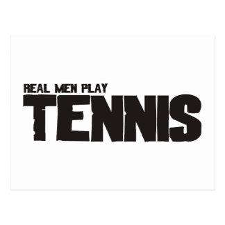 Cartão Postal Tênis real do jogo dos homens