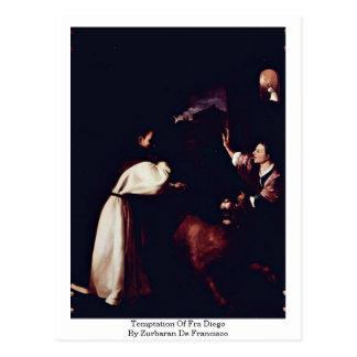 Cartão Postal Tentação de Fra Diego por Zurbaran De Francisco