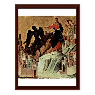Cartão Postal Tentação do cristo na montanha