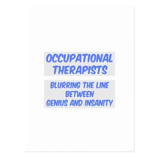 Cartão Postal Terapeuta ocupacional. Gênio e demência