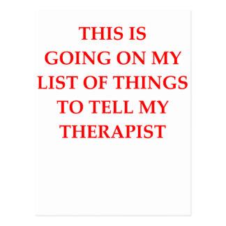 Cartão Postal terapia