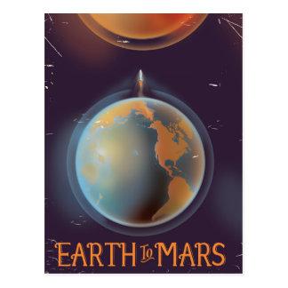 Cartão Postal Terra ao poster retro da ficção científica de