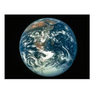Cartão Postal Terra como visto da lua