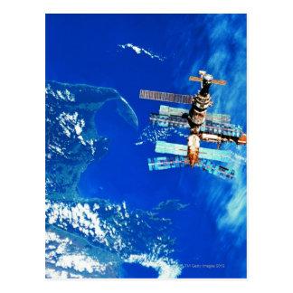 Cartão Postal Terra de órbita 2 da estação espacial